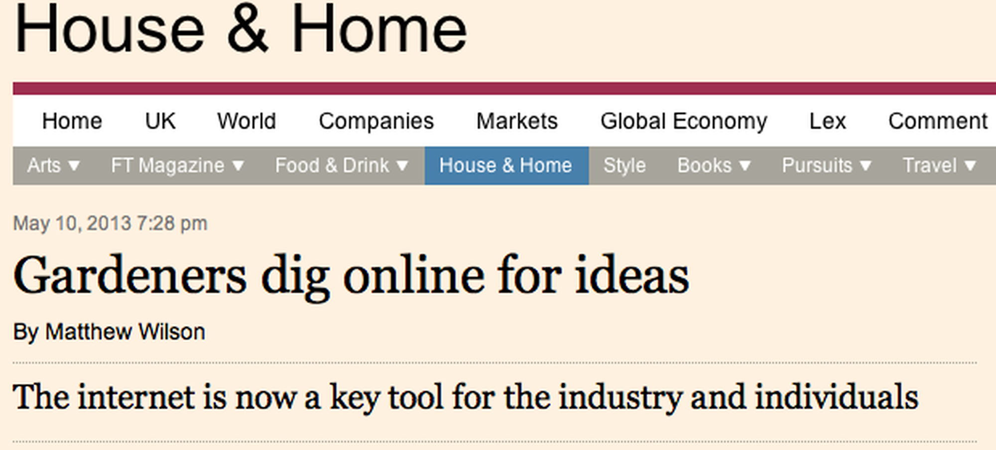 Today in the FT