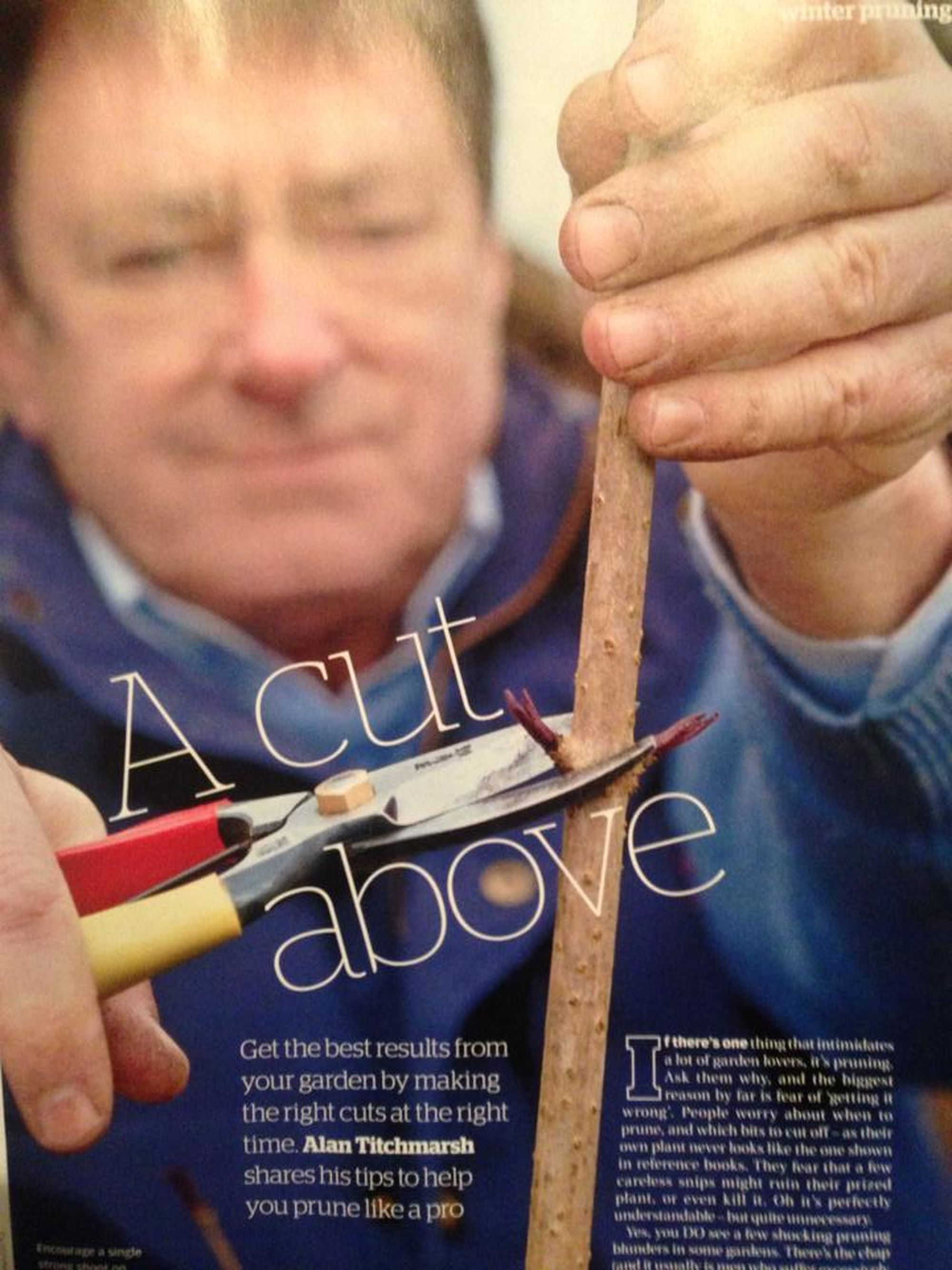 Alan Titchmarsh: a cut above