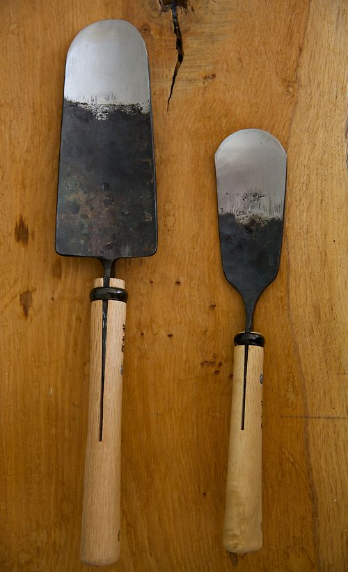 Hand forged trowels