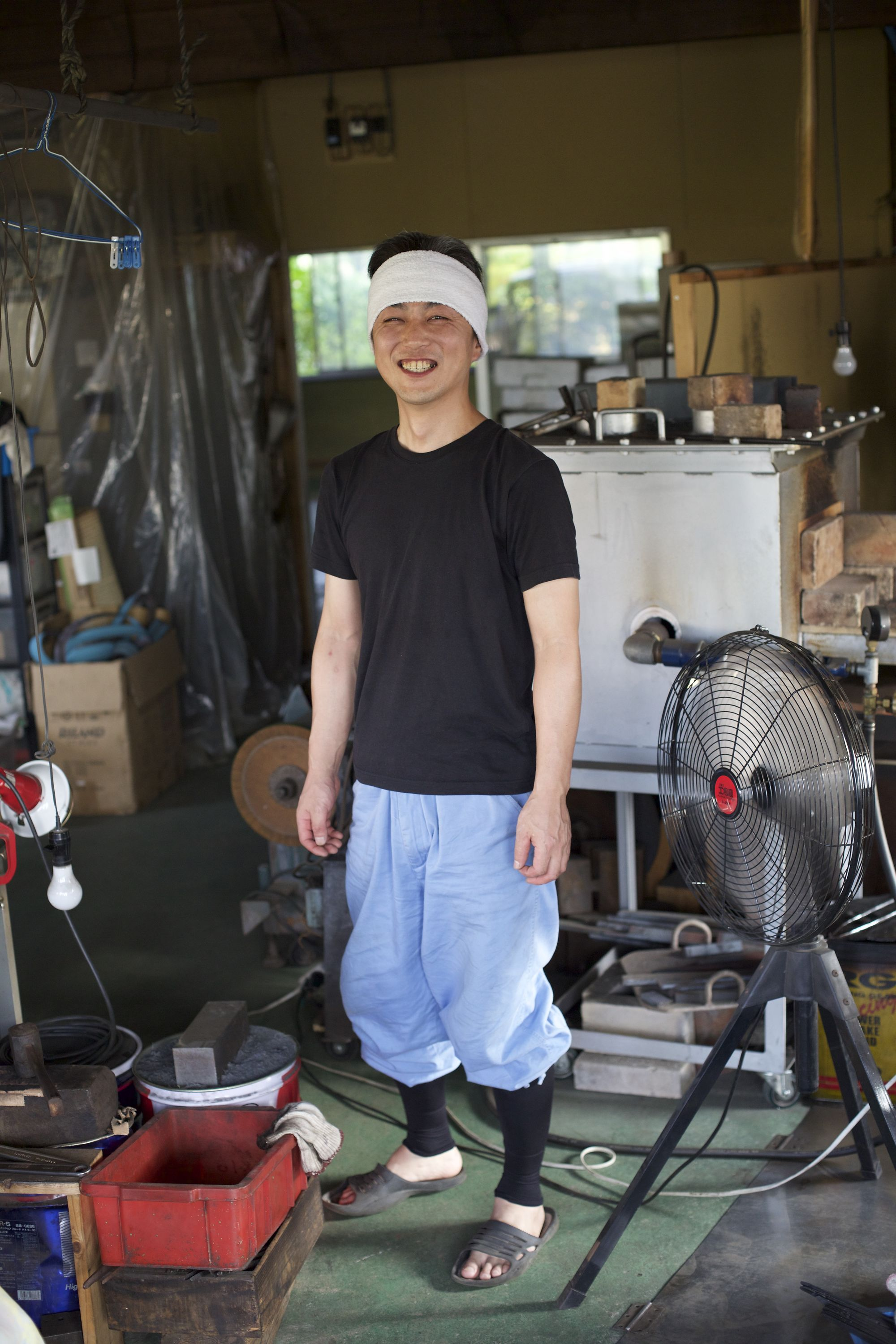Masashi in his workshop