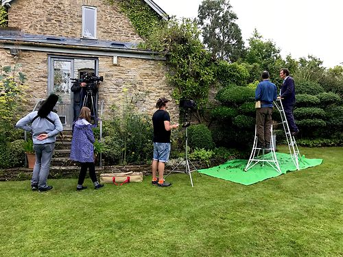 Filming Gardeners' World