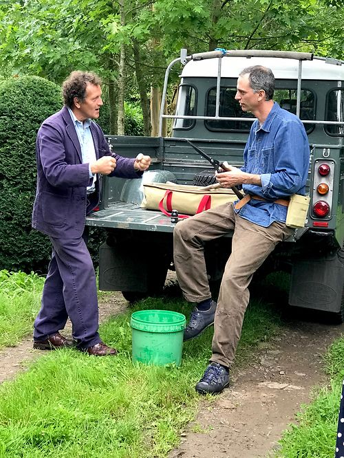 Where better to discuss sharpening than the back of a Landrover?