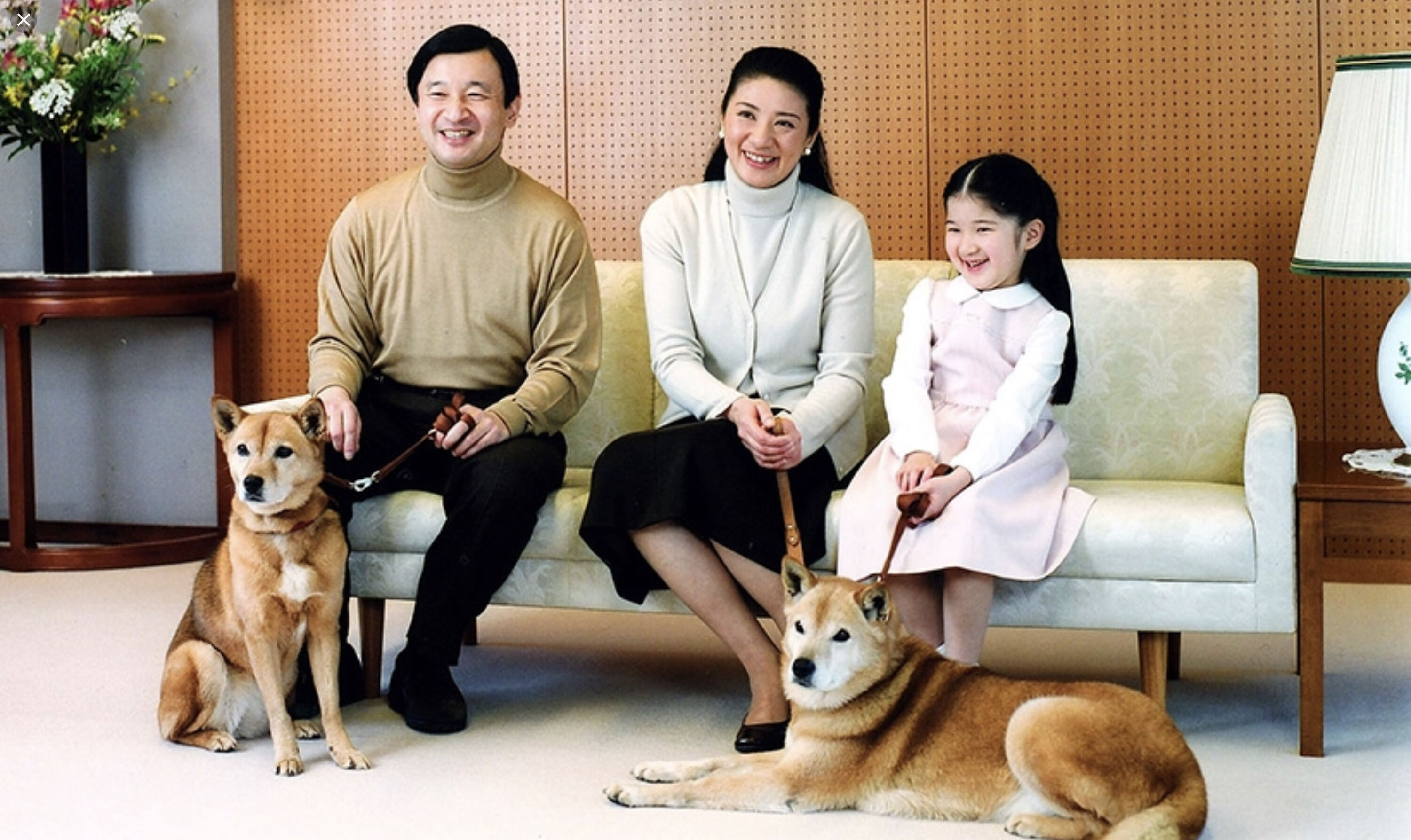 The new emperor, Naruhito, and his family.