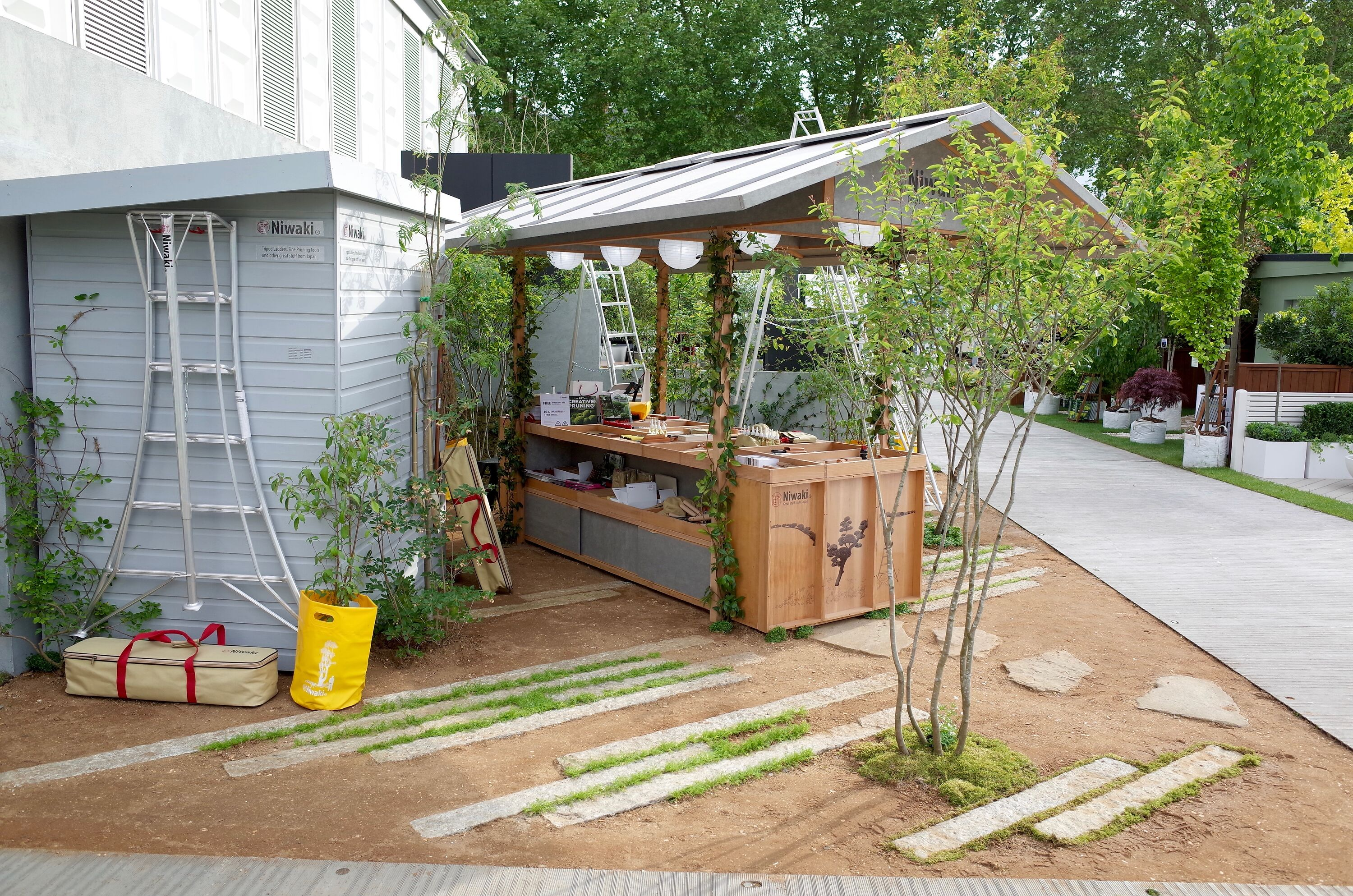 Niwaki stand at  RHS Chelsea 2019