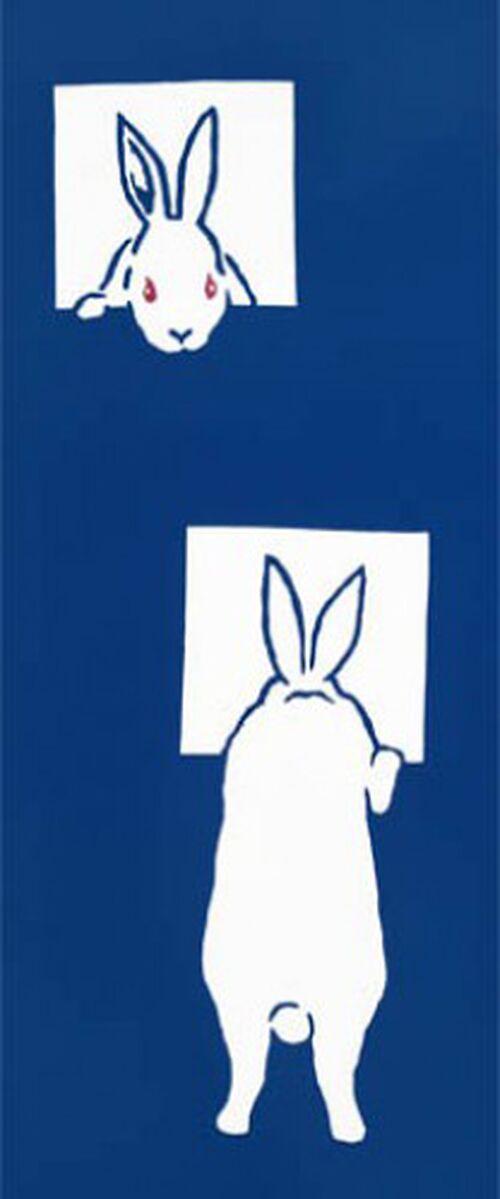 Tenugui - Rabbits, Image: #1