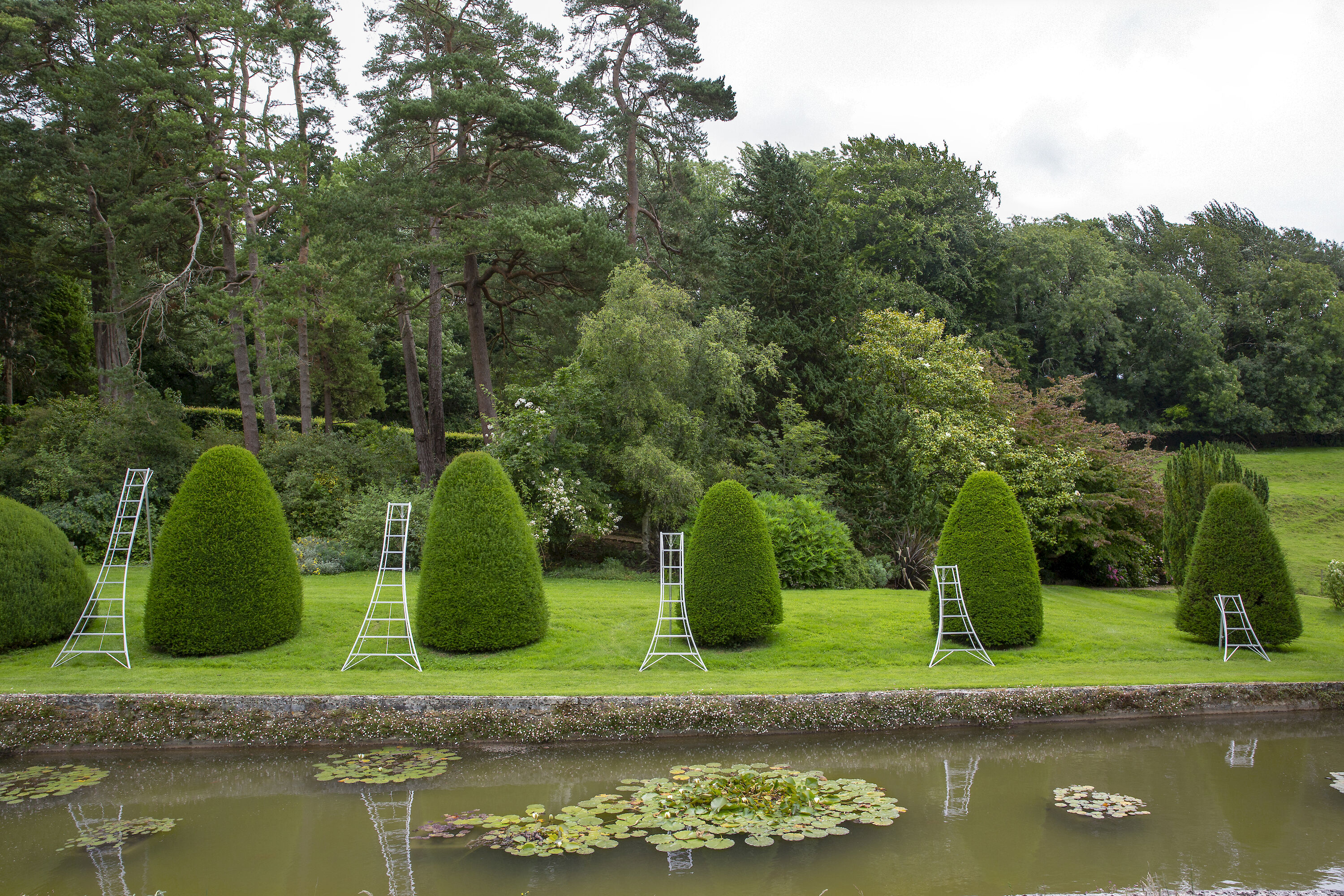 Niwaki Tripod Ladders at Mapperton House